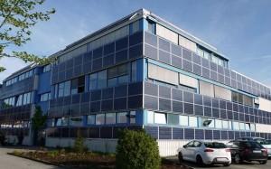 Fassade mit Solar Ost West und Süden