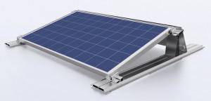 Flachdach Solarstromsystem
