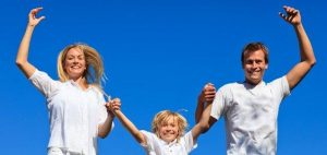 Solar junge Familie