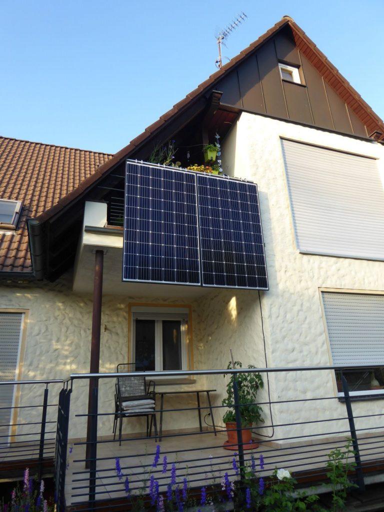 kleine Kompakt-Solaranlage