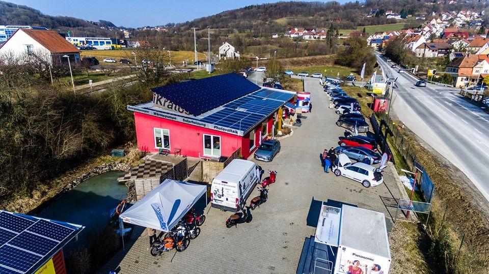 Solaranlage auf dem Firmengelände von iKratos