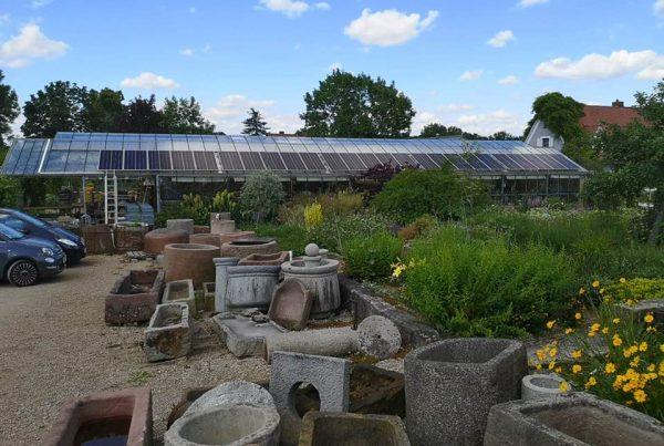 Solaranlage für Gewächshaus
