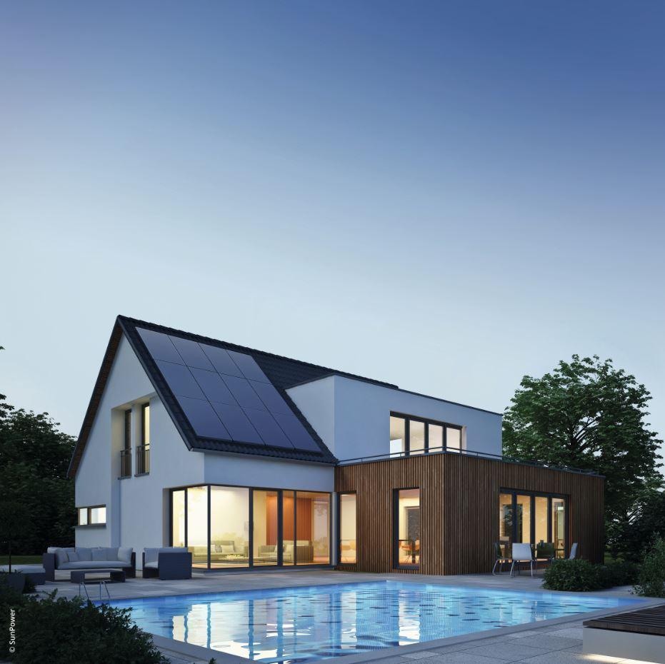 Solar-Photovoltaik auf der Dach Nordseite