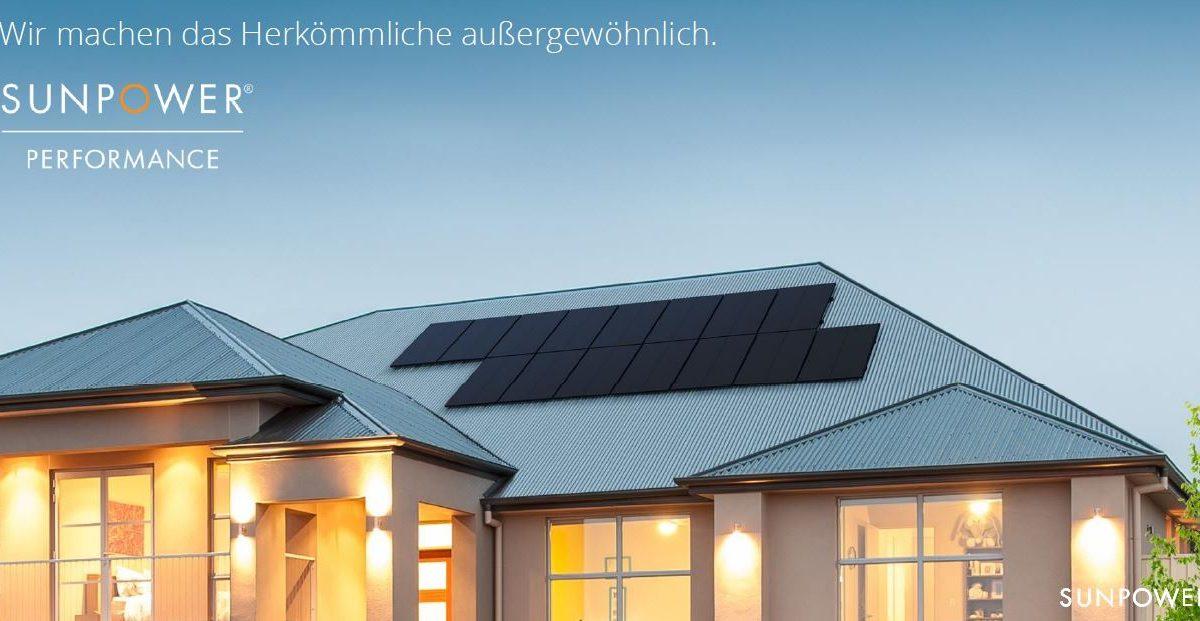 NEU SunPower Performance Solarmodul P 3