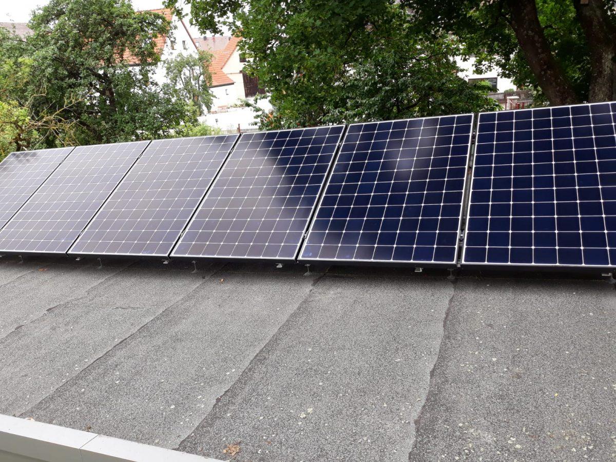 Solaranlage mit Verschattung