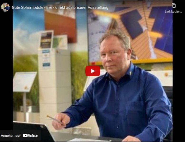 Ausstellung Solarmodule Beratung