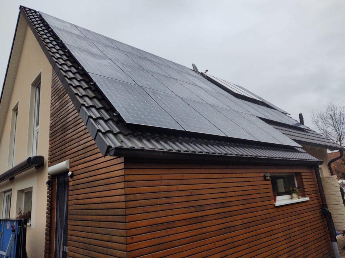 Solaranlage bei schlechtem Wetter
