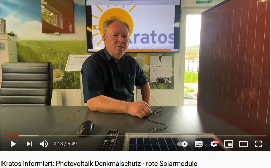 iKratos informiert über Photovoltaik Denkmalschutz