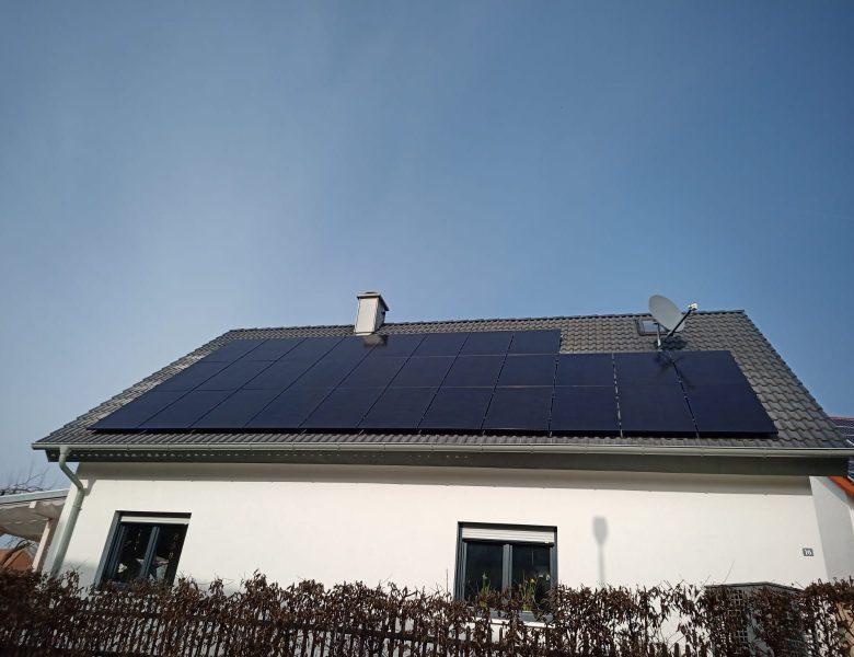Solaranlage und Photovoltaikanlage darf nicht blendet